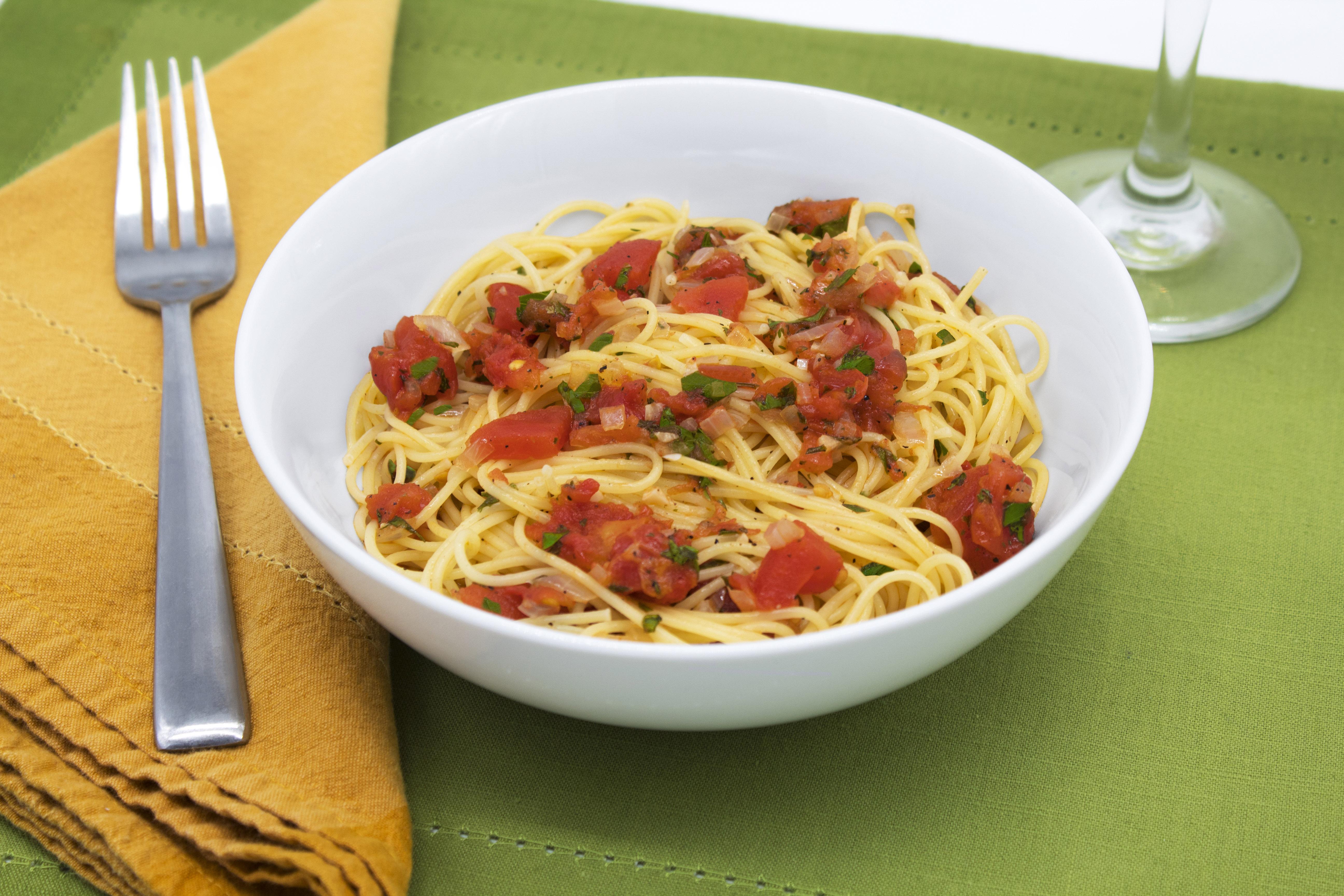 Angel Hair with Marinara - Golden Grain Recipes | Golden Grain Pasta