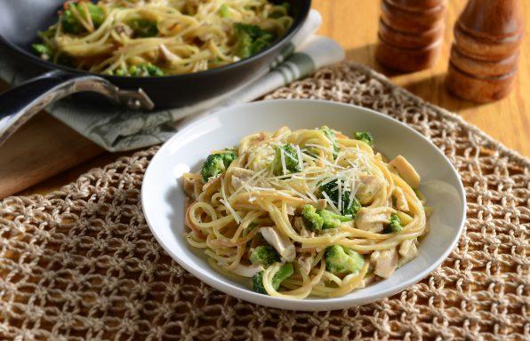 Cheesy-Rotisserie-Chicken-Skillet-Spaghetti-1-HR-596x384 Recipes
