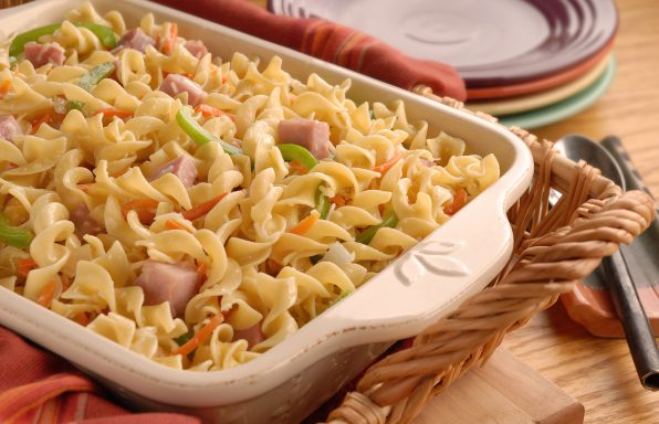 Country-Style-Ham-Noodles-596x384 Recipes